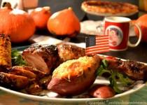 Gigue de dinde caramélisée (trilogie de Thanksgiving)