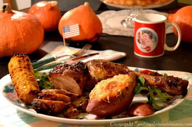 Repas typique de thanksgiving
