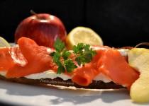 Tartine de saumon à la pomme