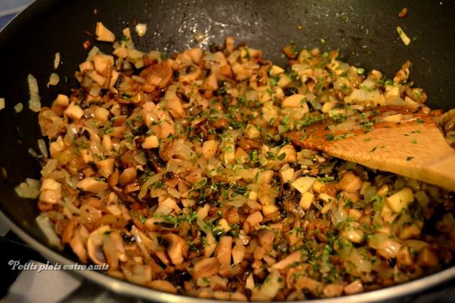 Recette des champignons farcis petits plats entre amis - Champignon de paris a la poele ...