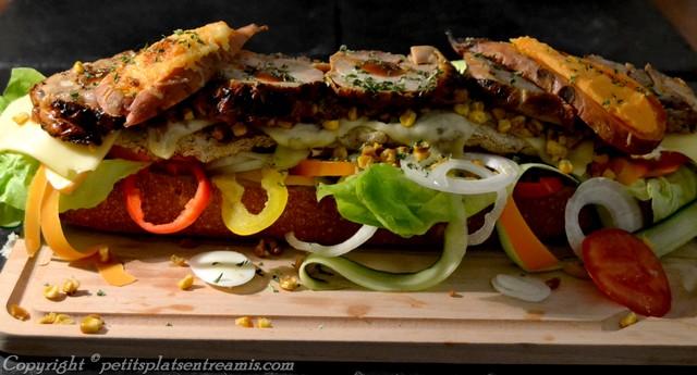 ingrédients complets dans turkey sandwich