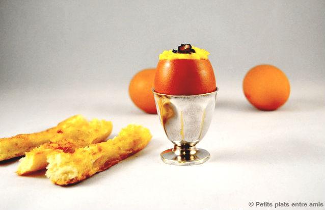 Oeufs brouill s aux truffes petits plats entre amis - Oeufs brouilles bain marie ...