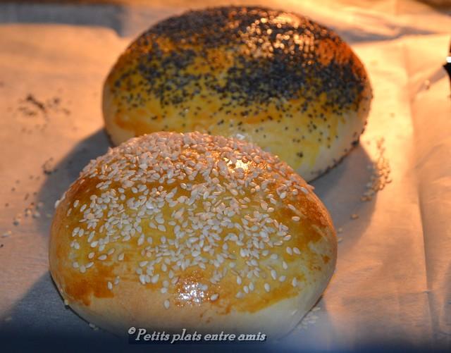 pain à burger au four