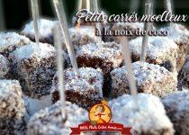 Petits pavés moelleux à la noix de coco