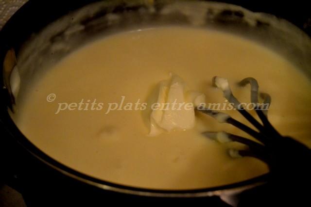 béchamel + crème