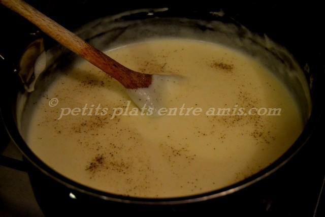 cuisson sauce béchamel