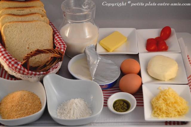 ingrédients pain perdu aux 3 fromages