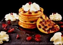 Pancakes aux cranberries