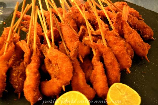 plat de crevettes panées