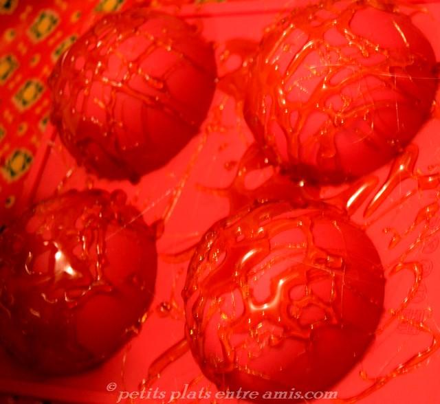 réalisation dômes en caramel