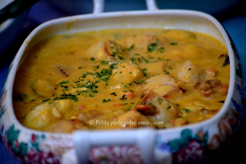 Plat de Saint-Jacques à la bisque de homard