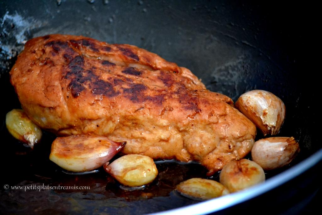 filet mignon et échalotes caramélisées