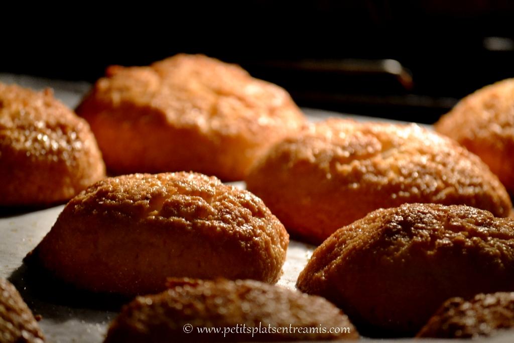 gateaux à la noix de coco cuits dans le four