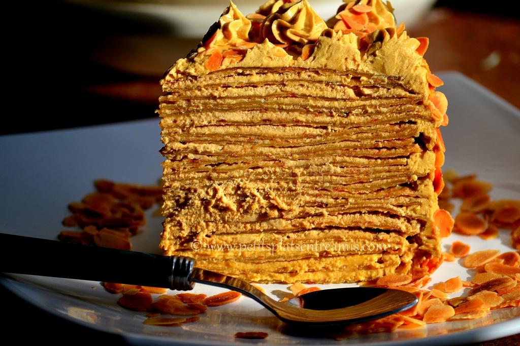 part de gâteau de crêpes