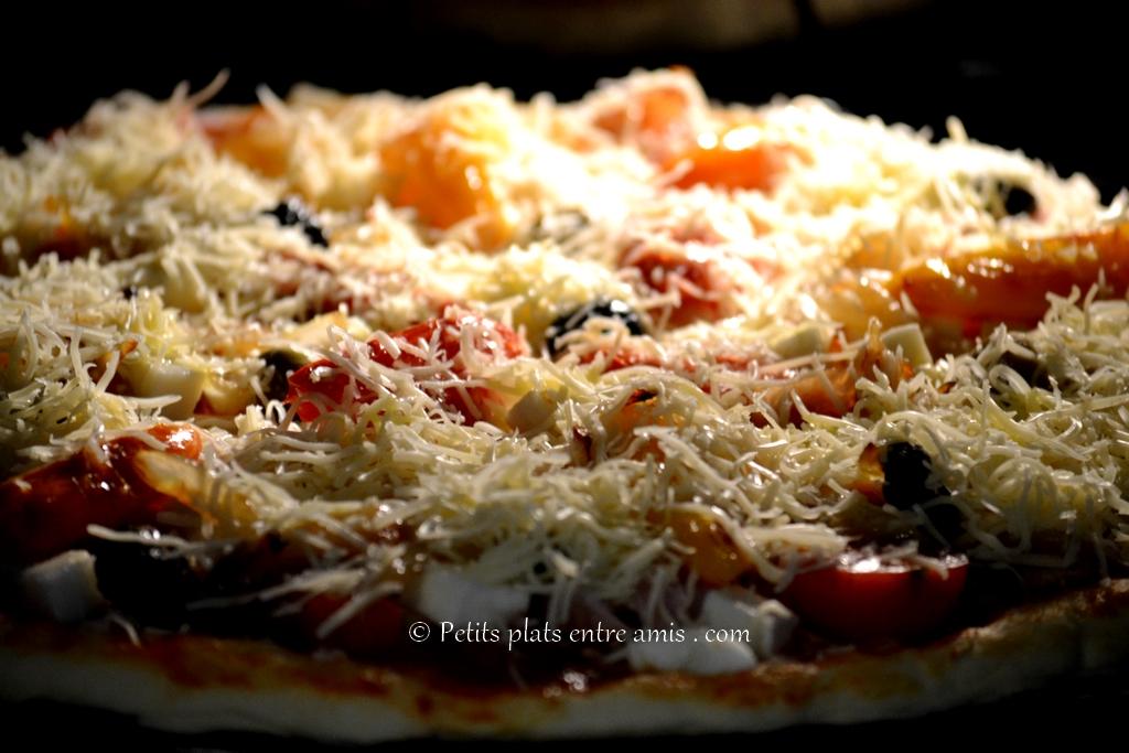 pizza enfournée