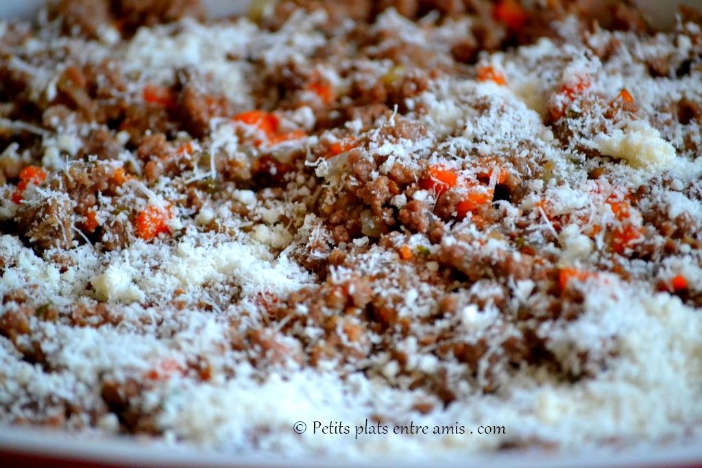 viande hachée et parmesan