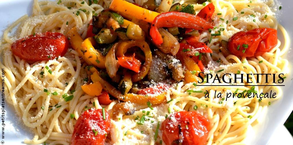Spaghettis la proven ale petits plats entre amis for Plat a manger entre amis