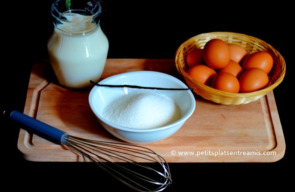 ingrédients pour crème anglaise