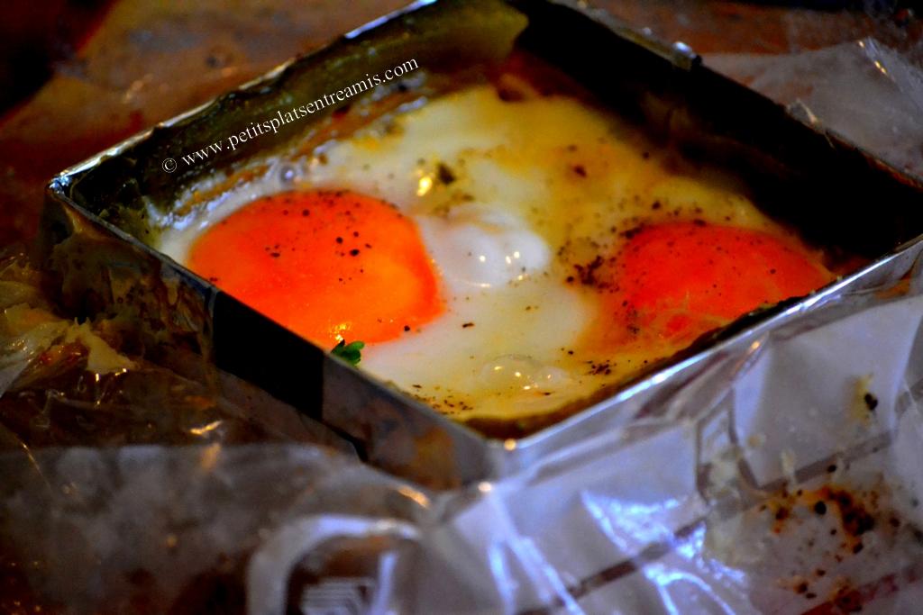 oeufs cuits et poivronnade