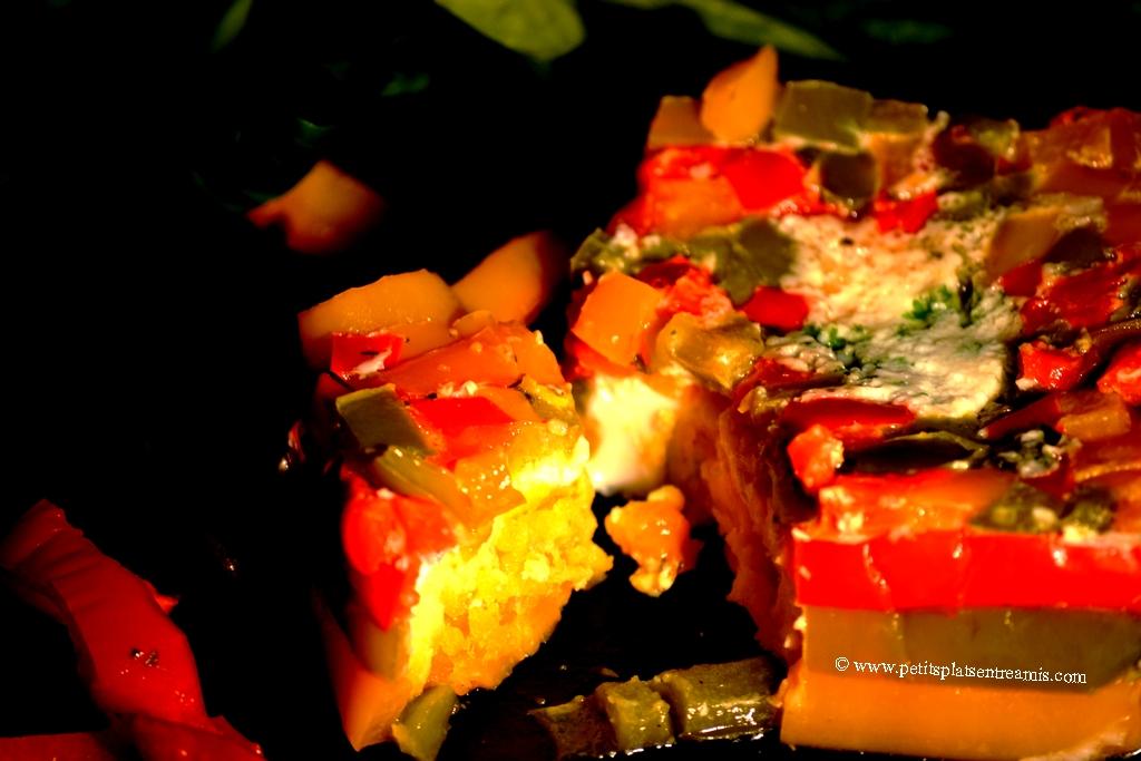 oeufs en poivronnade coupés
