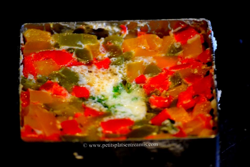 oeufs en poivronnade cuits