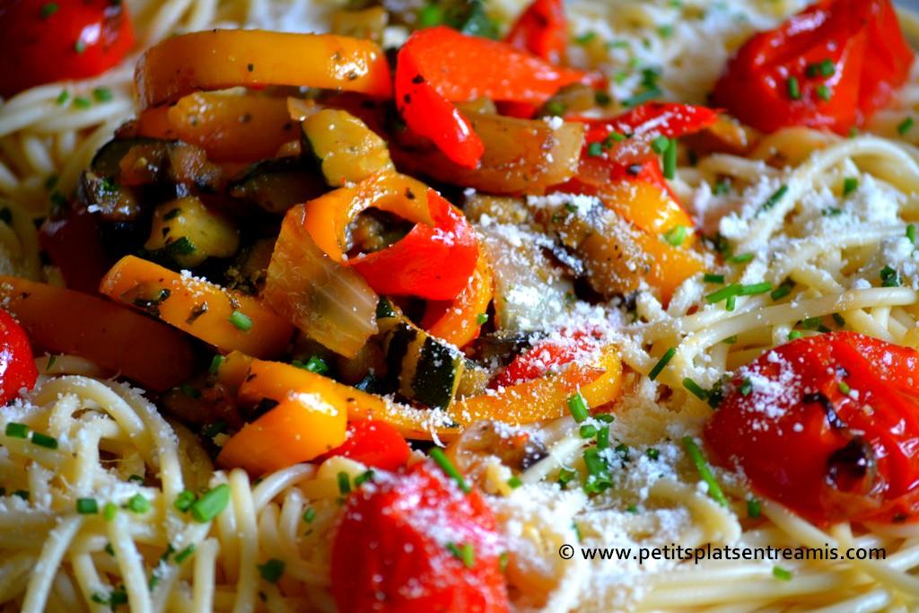 plat de spaghettis à la provençale