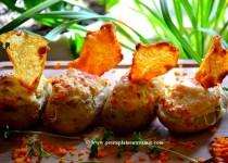 Pommes de terre soufflées gratinées