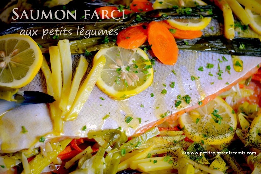 saumon farci avant cuisson
