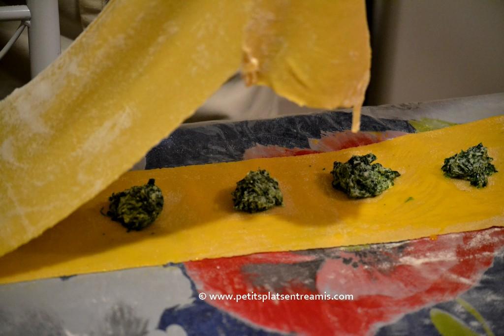 superposition pâte pour raviolis