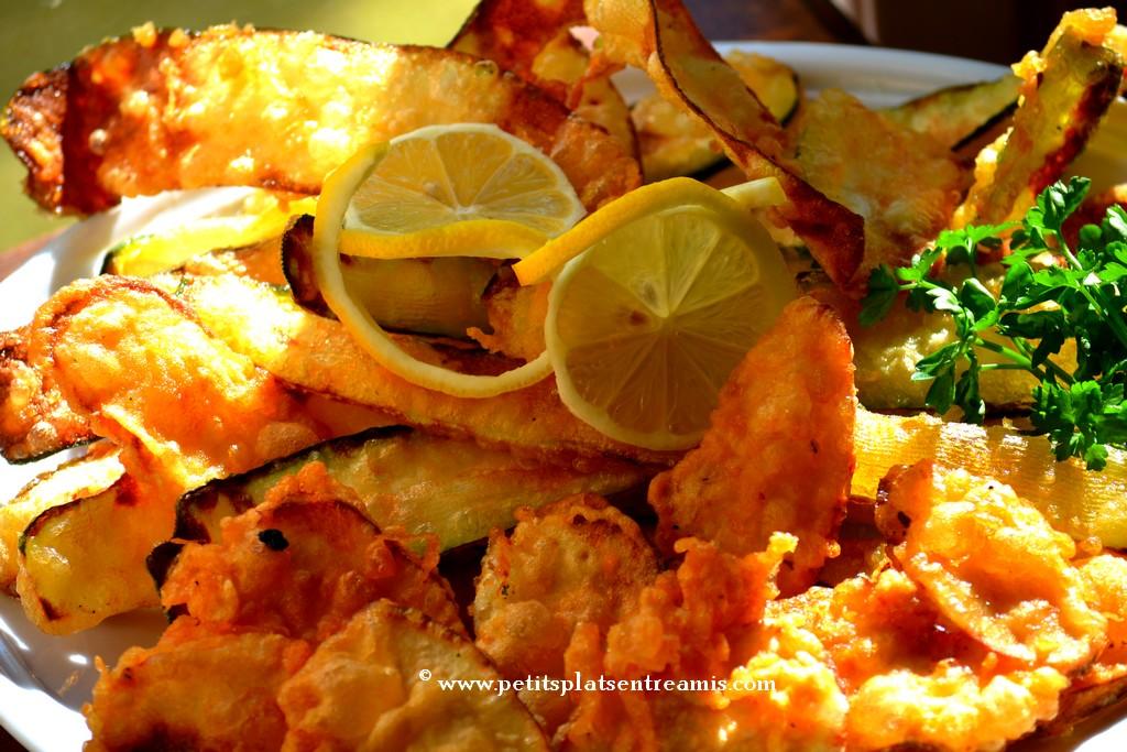 tempura et citron