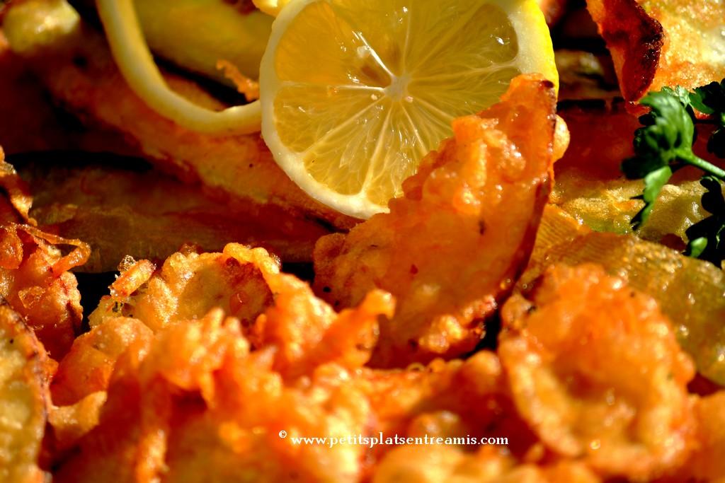 tempura et panais