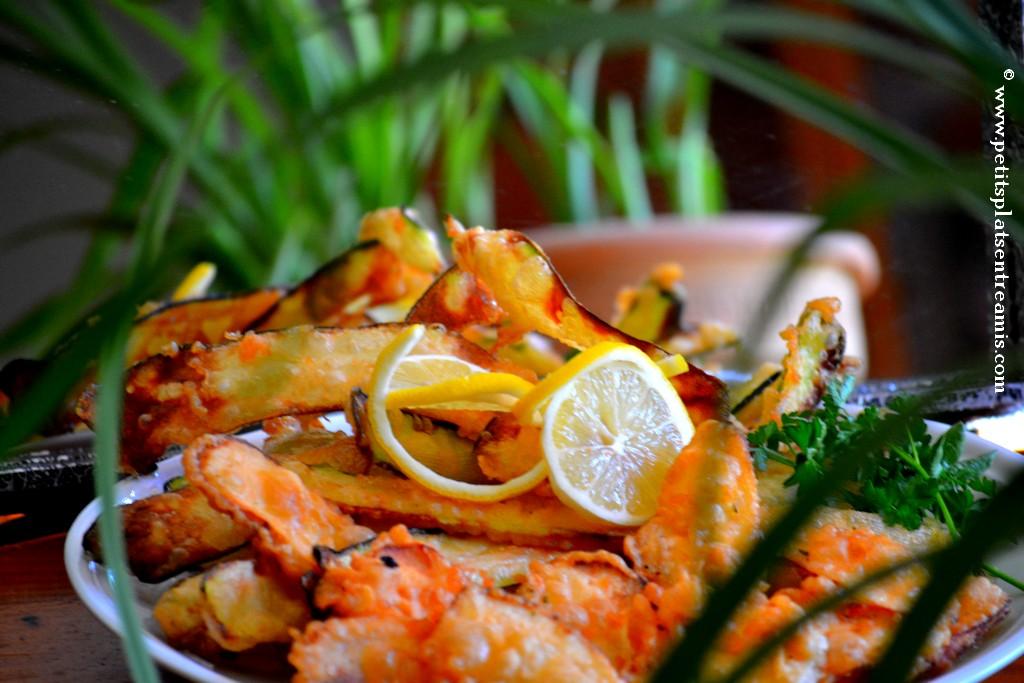 tempura sur assiette