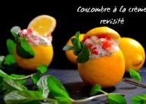 Concombre à la crème revisité