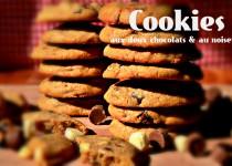Cookies aux deux chocolats et aux noisettes grillées