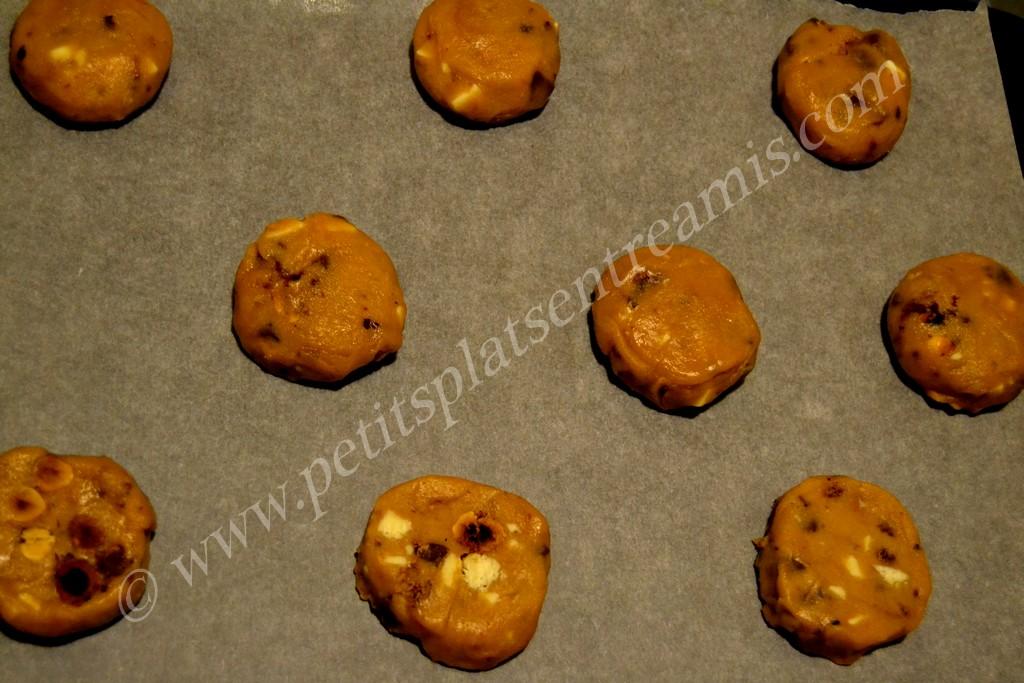 cookies prêts à cuire