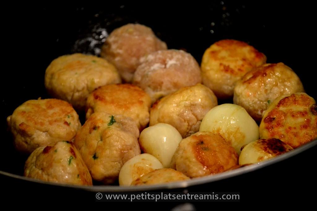 cuisson boulettes de poulet
