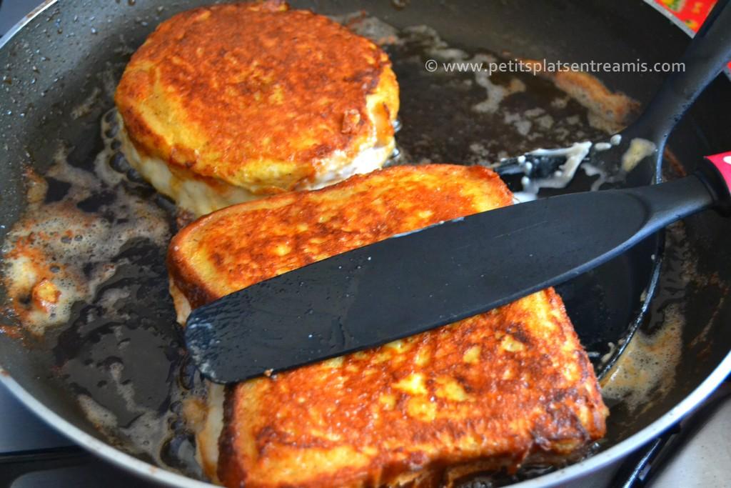 cuisson terminée croque-monsieur façon pain perdu