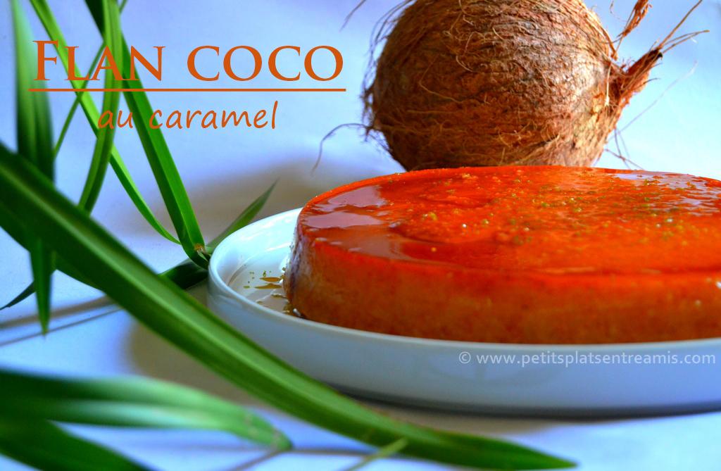 flan coco au caramel