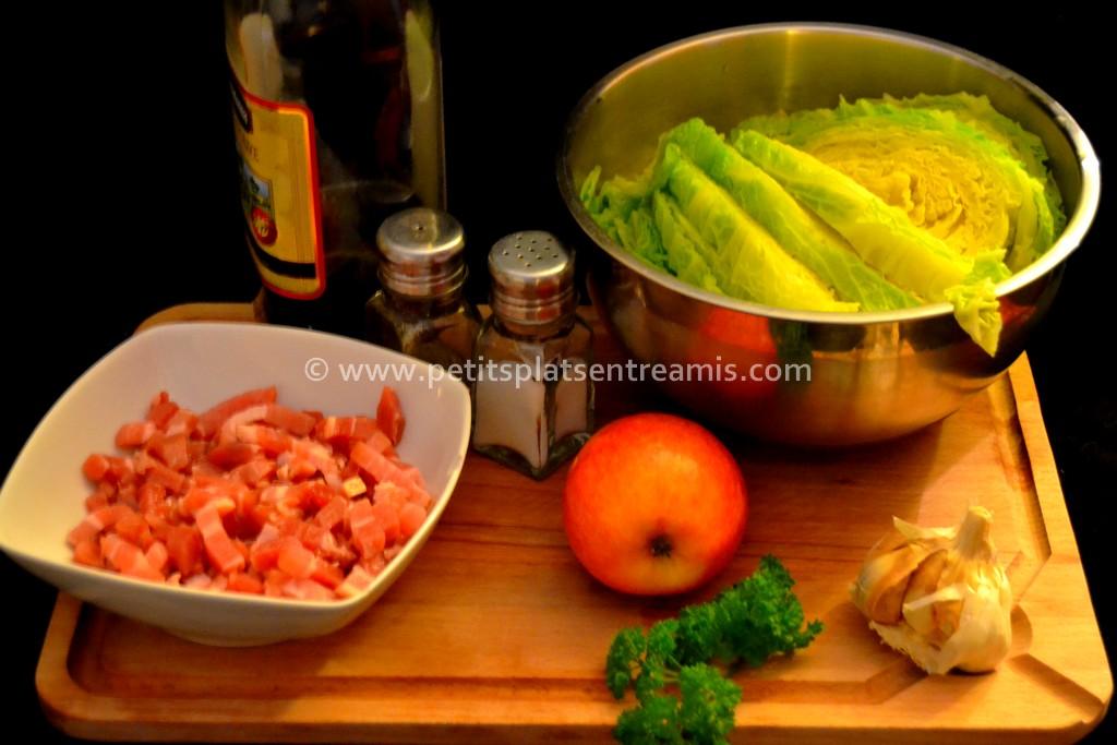 ingrédients pour chou campagnard
