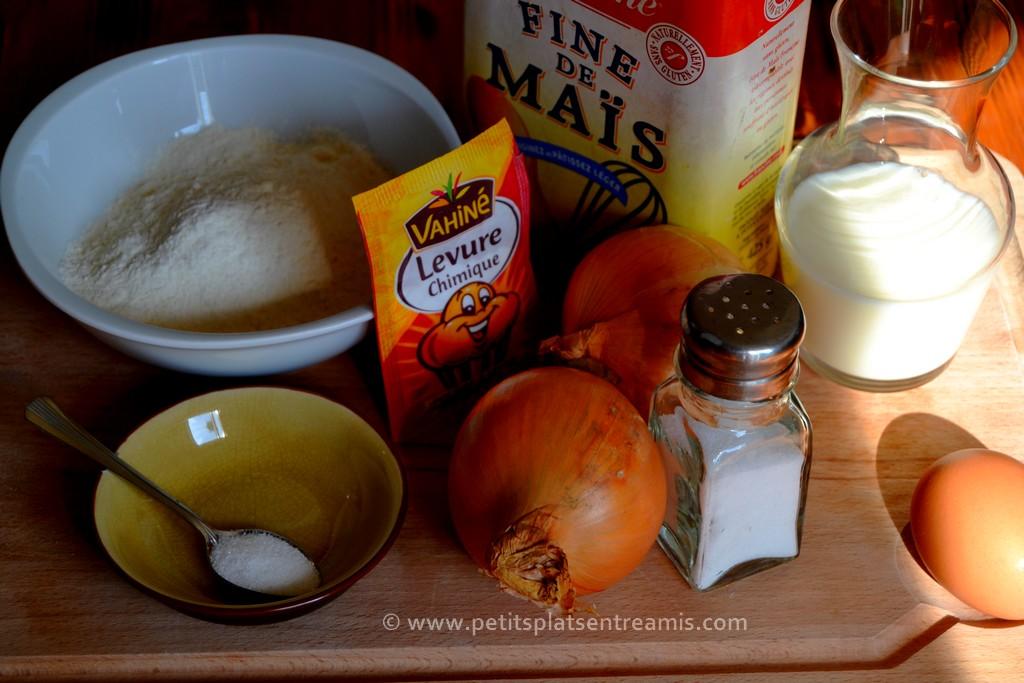 ingrédients pour onion rings