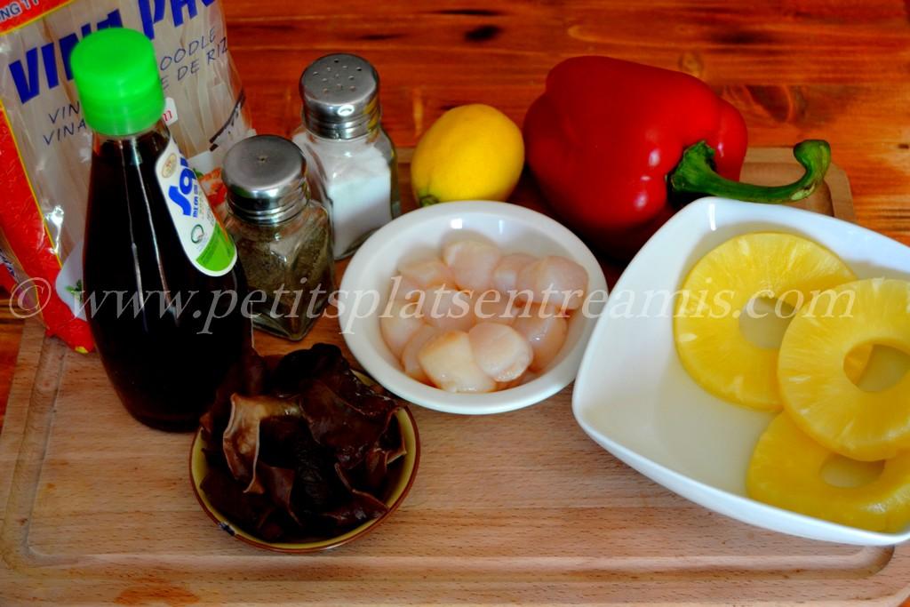ingrédients pour salade de nouilles chinoises