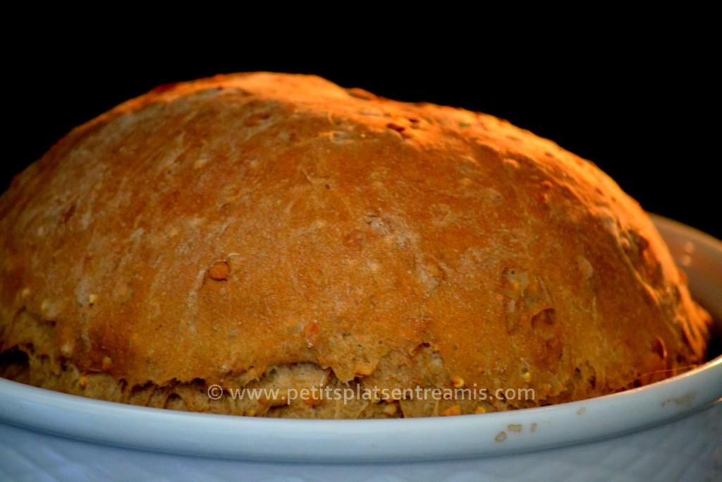 pain rustique au four