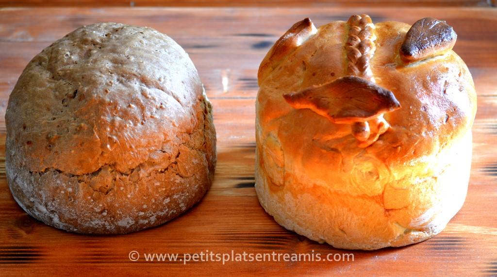 pain rustique et pain blanc