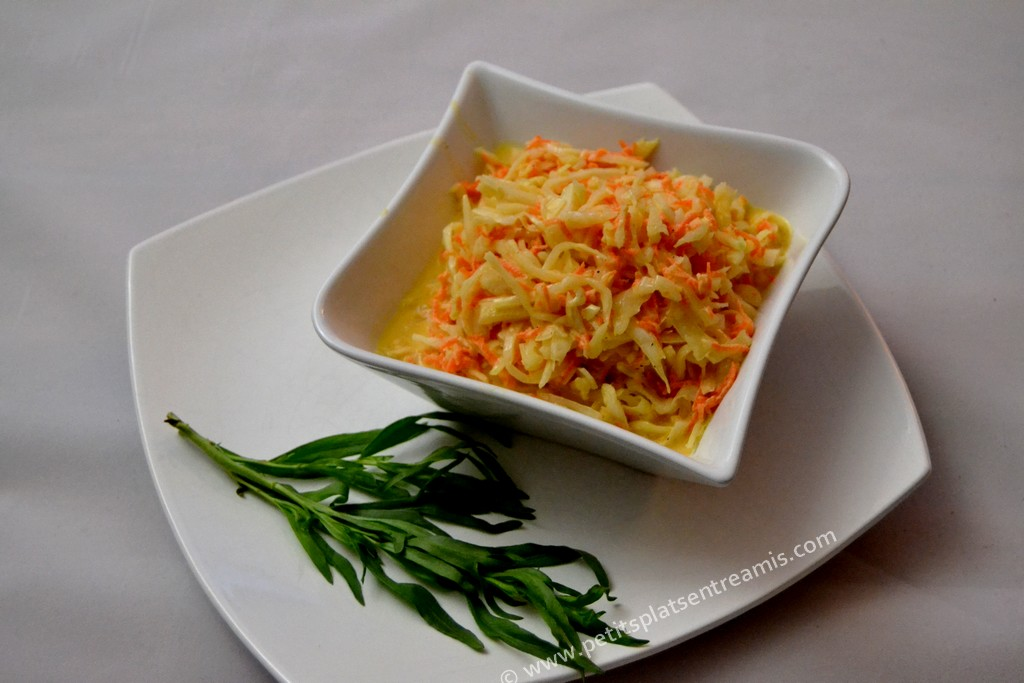 présentation salade coleslaw