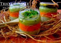 Trio de purée aux légumes de saison