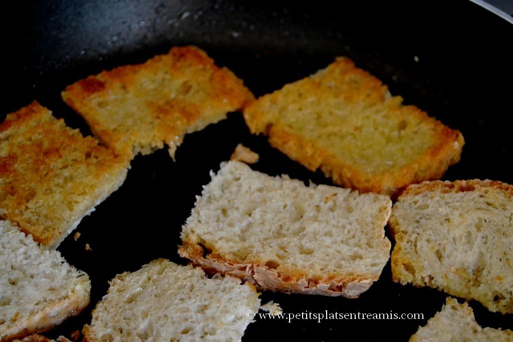 cuisson tranches de pain de campagne