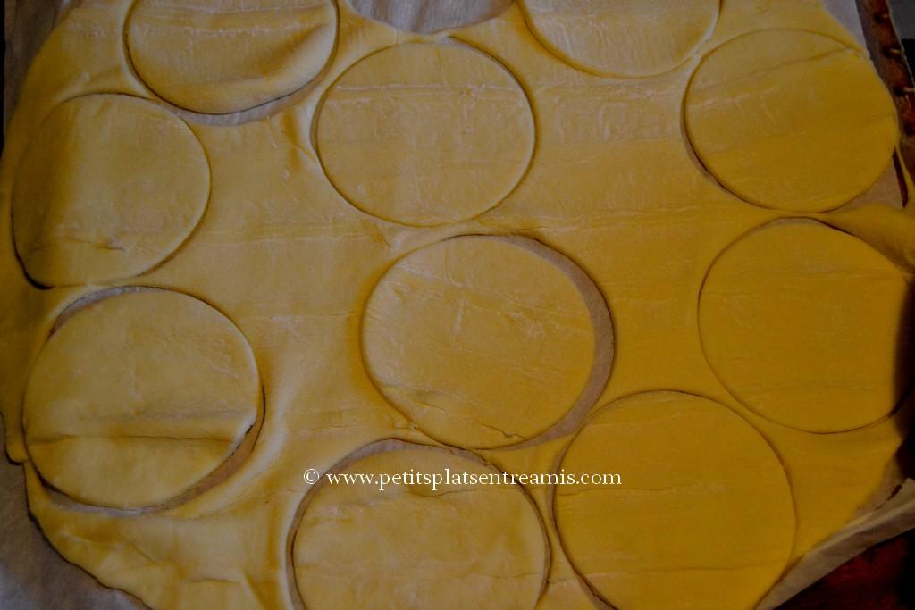 découpe cercles de pâte