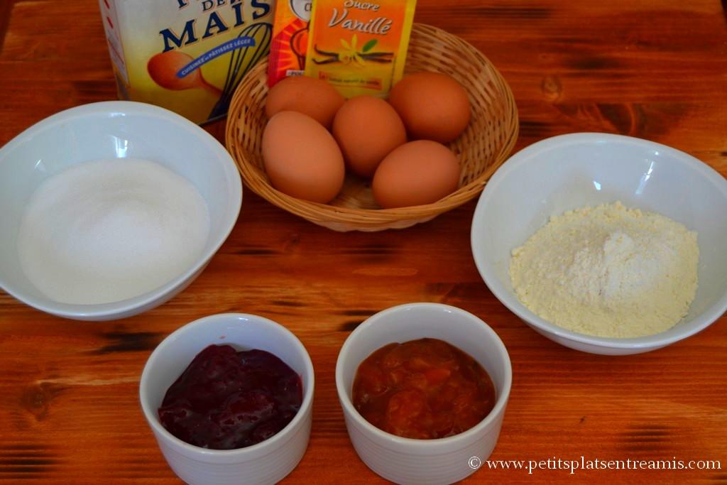 ingrédients biscuit roulé à la confiture