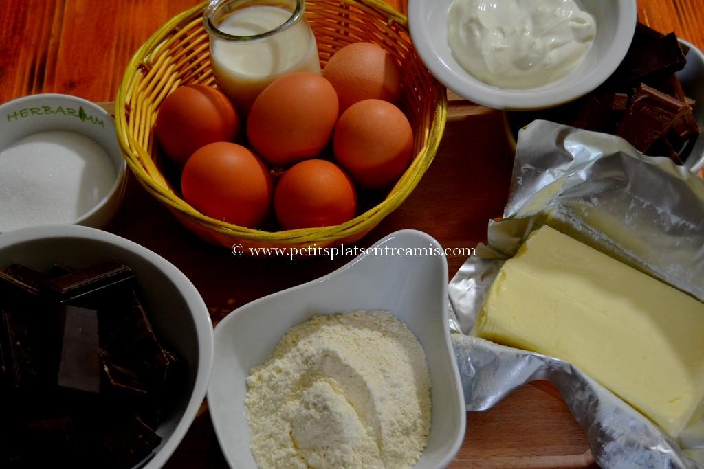 ingrédients gâteau au chocolat