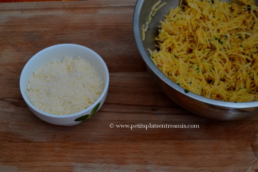 ingrédients paillasons de pommes de terre au parmesan